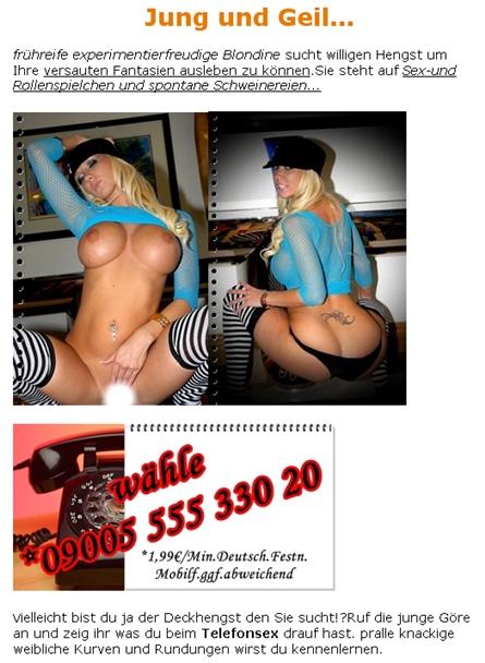 Telefonsex mit Blondine