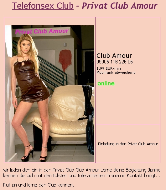 Privat Club Amour Telefonsex