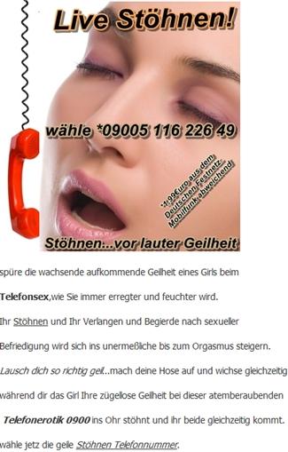 Stöhnen Telefonsex