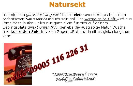 Natursekt Telefonsex